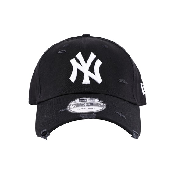 New Era Şapka - Distressed Seasonal 940 New York Yankees Black