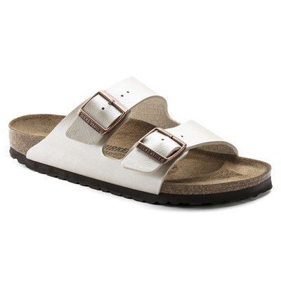 Birkenstock Arizona Bayan Terlik & Sandalet - Graceful Pearl White