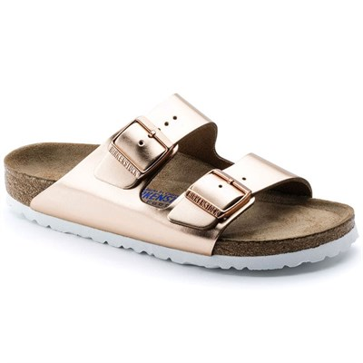 Birkenstock Arizona Bayan Terlik & Sandalet - Metallic Copper