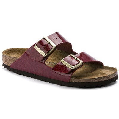 Birkenstock Arizona Bayan Terlik - Magic Snake Bordeaux