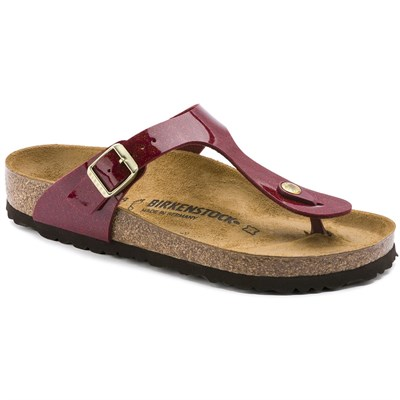 Birkenstock Gizeh Bayan Terlik - Magic Snake Bordeaux