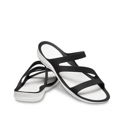 Crocs Swiftwater Sandal W Bayan Terlik - Black/White