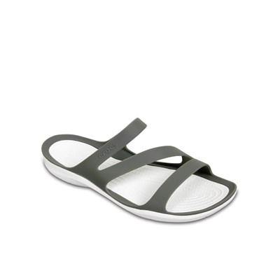 Crocs Swiftwater Sandal W Bayan Terlik - Smoke/White