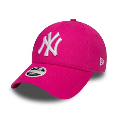 New Era Kadın Şapka - Fashion Essential 9FORTY New York Yankees Pink/Optic White