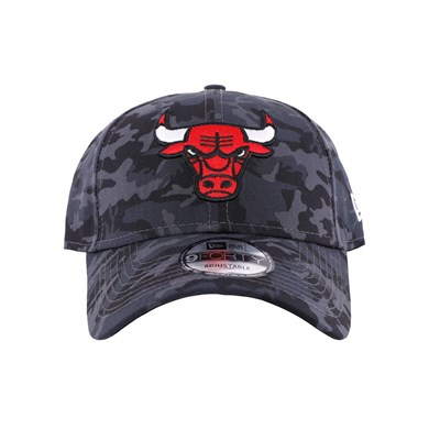 New Era Şapka - Camo 9FORTY Chicago Bulls Black/Gray