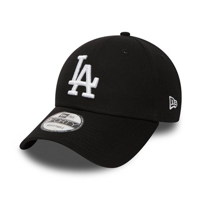 New Era Şapka - League Essential 9FORTY Los Angeles Dodgers Blk/Whi