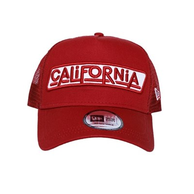 New Era Şapka - USA California Patch Red A Frame Trucker