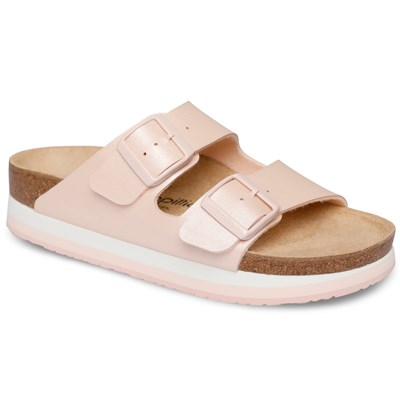 Papillio Arizona Bayan Terlik & Sandalet - Icy Metallic Light Rose